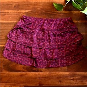 Athleta Swagger Skort Purple Pink Pattern